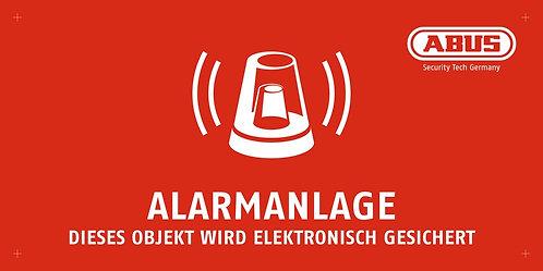 Warnschild Alarmanlage, 200 x 100 mm