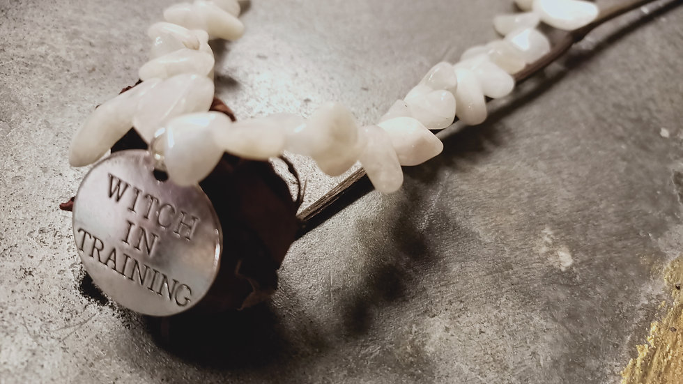 W.I.T moonstone necklace
