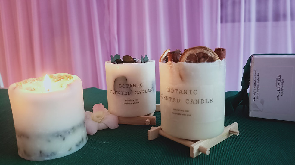 Botanic Scented Floral Candle