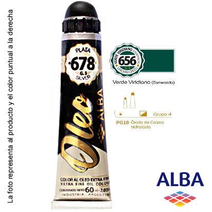Óleo Alba profesional x 60 ml grupo 4 656 verde esmeralda viridiano