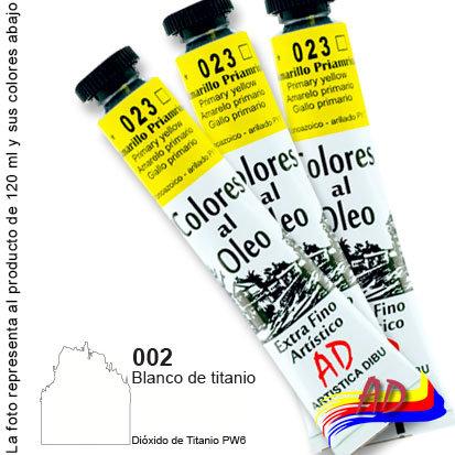 Óleo AD grupo 1 x 120 ml 002 blanco de titanio