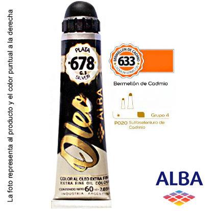 Óleo Alba profesional x 60 ml grupo 4 633 bermellón de cadmio