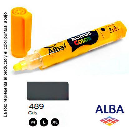 Marcador Alba acrílico pigmentado trazo M (489) gris