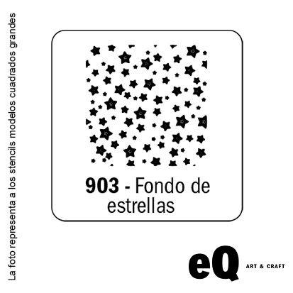 Stencil EQ 150 x 150 cuadrado 903 fondo de estrellas