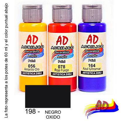 Acrílico AD x 60 ml 198 básicos negro óxido