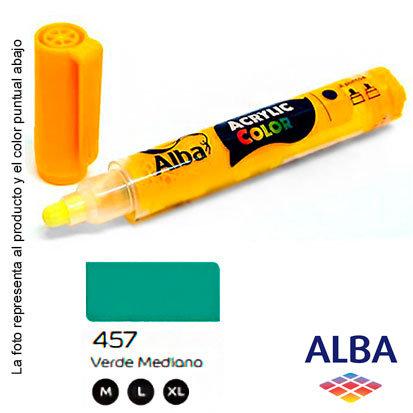 Marcador Alba acrílico pigmentado trazo L (457) verde mediano