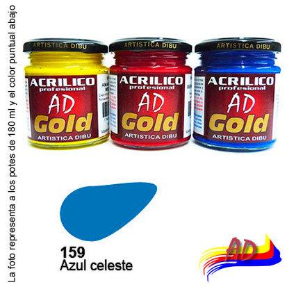 Acrílico Gold AD G1 x 180 ml 159 Azul celeste