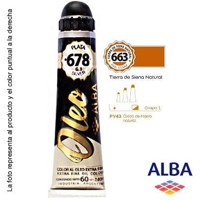 Óleo Alba profesional x 60 ml grupo 1 663 tierra siena natural