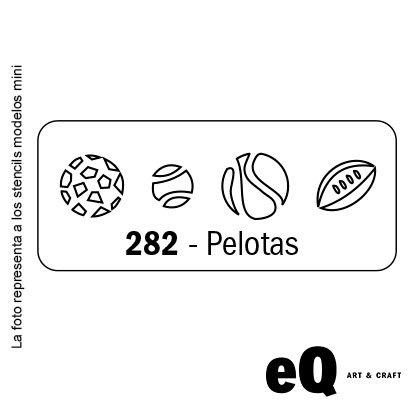 Stencil EQ 045 x 170 x 0,25 mini 282 pelotas