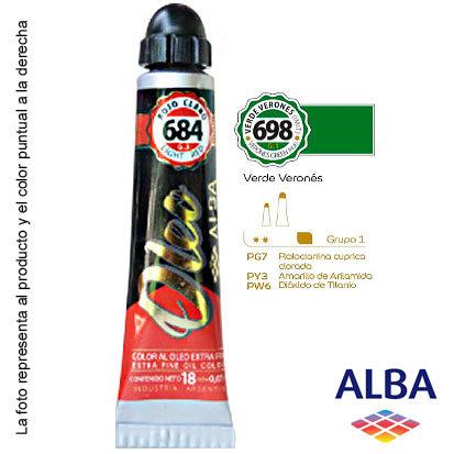 Óleo Alba profesional x 18 ml grupo 1 698 verde veronés