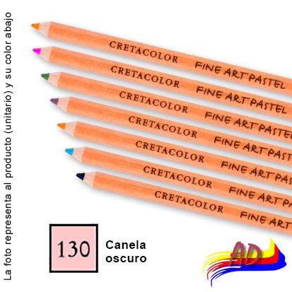 Lapiz pastel tiza Cretacolor 47-130 canela oscuro