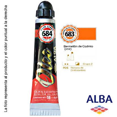 Óleo Alba profesional x 18 ml grupo 2 683 bermellón de cadmio imit.