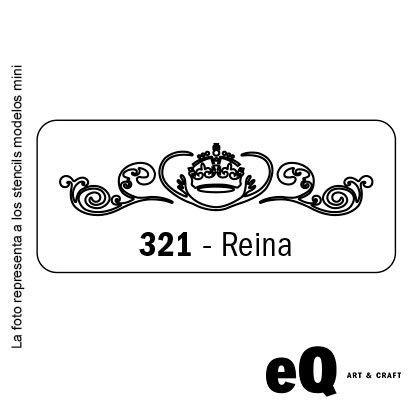 Stencil EQ 045 x 170 x 0,25 mini 321 reina