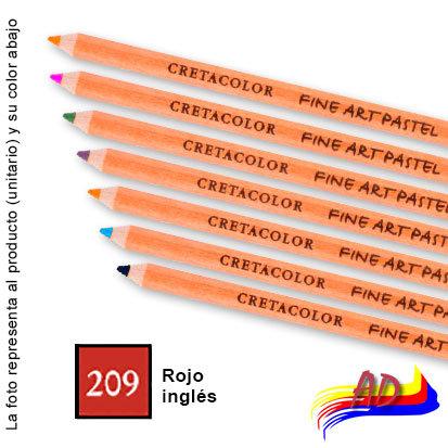 Lapiz pastel tiza Cretacolor 47-209 rojo inglés