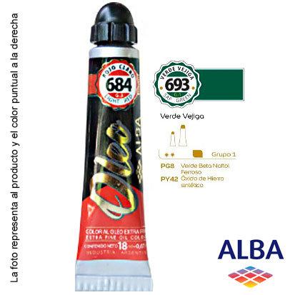Óleo Alba profesional x 18 ml grupo 1 693 verde vejiga
