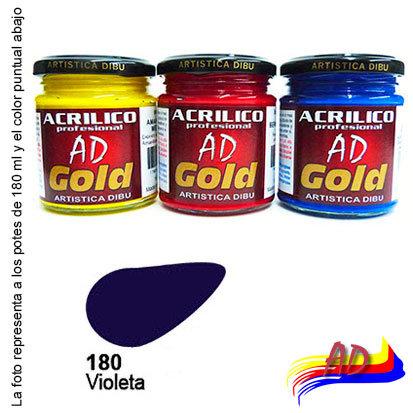 Acrílico Gold AD G2 x 180 ml 210 Violeta