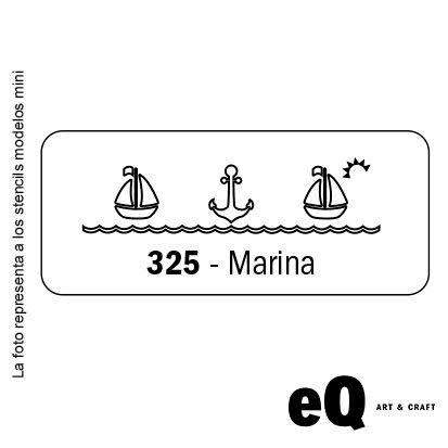 Stencil EQ 045 x 170 x 0,25 mini 325 marina