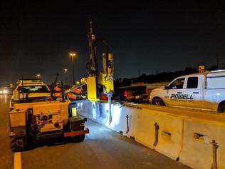 Temporary construction bins - highway installation