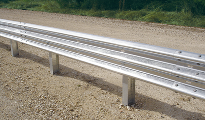 Steel beam guide rail - highway example photo