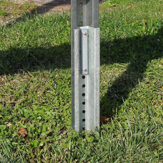 Ground sign mount - example photo