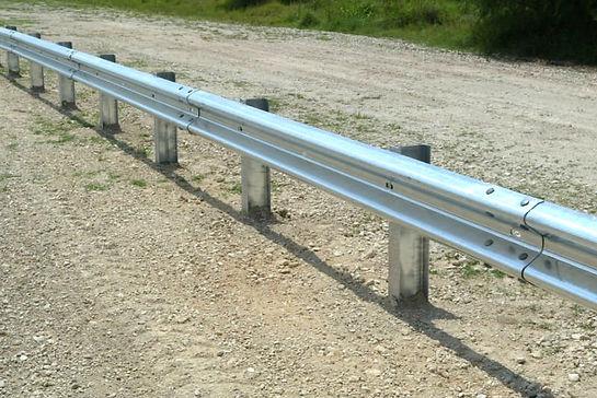Highway steel beam guide rails