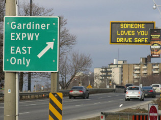 Speed limit ground sign mount - example photo