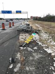Emergency construction highway photo