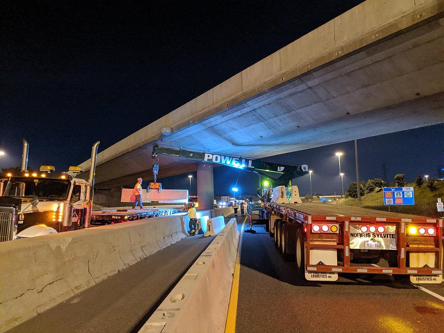 Night Work Example Photo - Crane Powell Contracting