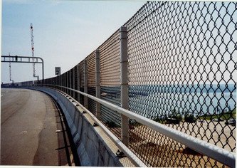 Curved fence example photo