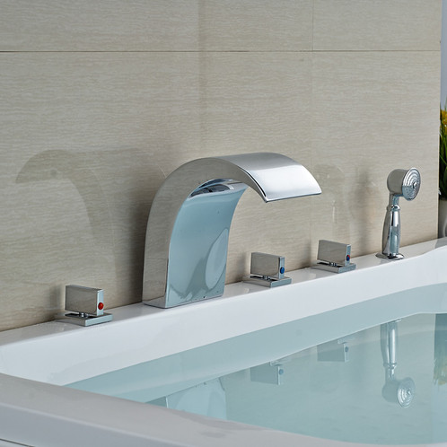 VIMA 5pcs Waterfall Bathtub Faucet with Handshower Canada Faucet