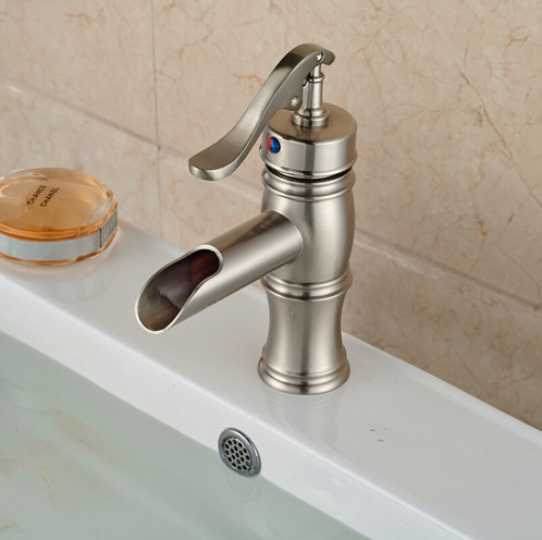 ROBBI Vintage Sink Faucet, Beautifully Designed In France. Number Of  Handles: Single Handle Finish : Brushed Nickel Installation Holes: One Hole  Valve Type: ...