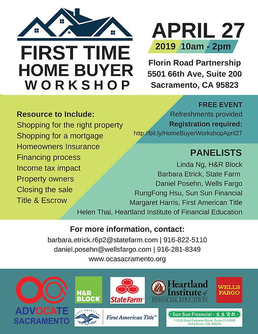 First Time Home Buyer Workshop 2019 Fina