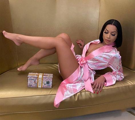 Sexy Money Silk Valentine's Day Robe