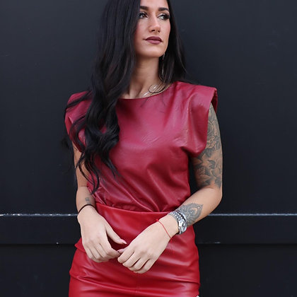 Soft Leather Blouse Couture Top