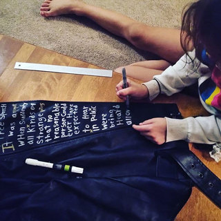 A young London stylist adds her touch to a custom design.
