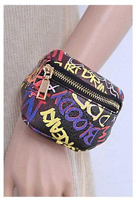 Graffiti Wrist Clutch Lipstick Bag