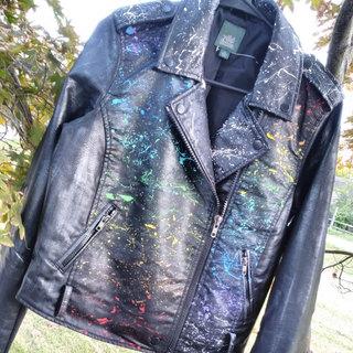 Rainbow/B&W Paint Splatter Custom Design