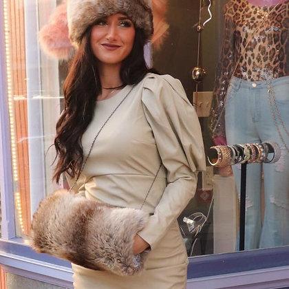 London Couture Exclusive Faux Chinchilla Fur Winter Muff