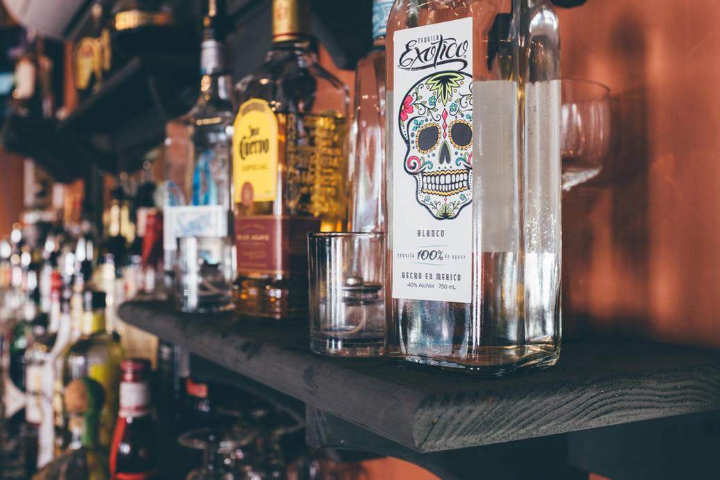 different tequilas offered at La Casita