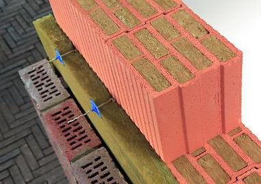 Двухслойная стена с теплоизоляцией