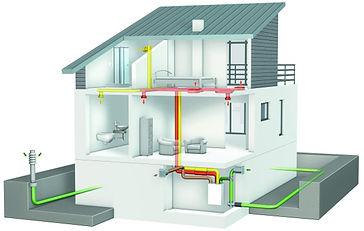 Схема вентиляции в современном доме