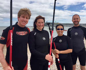 Group Stand Up Paddle Board Lesson in Weymouth
