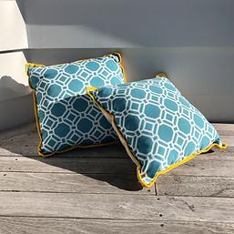 Outdoor Cushion 45 Aqua