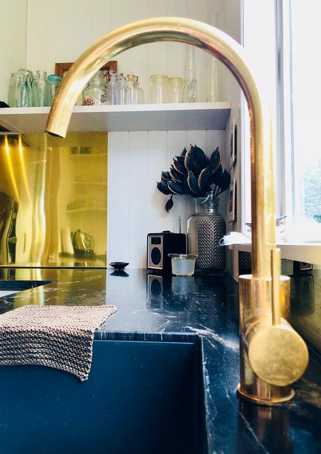 LK&CO Brass tap & splashback