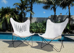 Flutter patio chairs