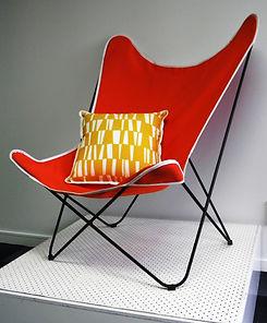 Flutter Chair Classic Brnt Orange _ Whit