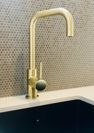 LK&CO brushed brass tapware accents