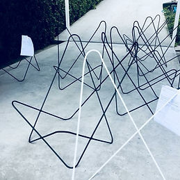 Flutter Chair frames handmade in Aucklan