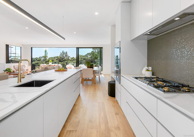 LK&CO open plan living with integrated kitchen design