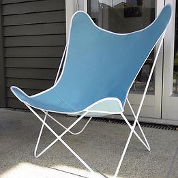 Flutter Chair AQUA - white frame